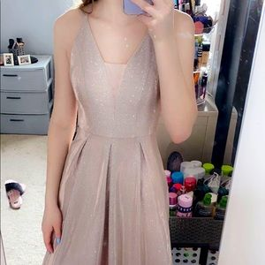 A prom dress only worn for pictures